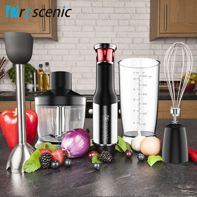 Proscenic Immersion Hand Blender 800W Smart Speed Mixer Kitchen Processor Whisk