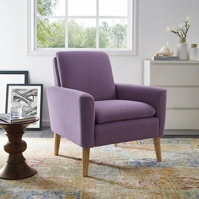 Accent Fabric Chair Single Sofa Comfy Upholstered Arm Chair Office Living - Fabric Arm Chair