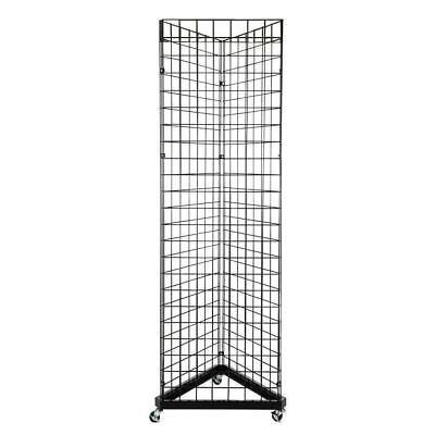 Wire Grid Triangle Tower Display Rack Metal Gridwall Panel Fixture Wwheels