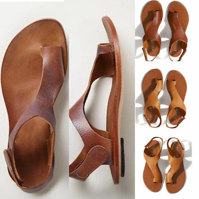 Women Ladies Cut Out Leather Sandals Footbed Beach Slippers Flip Flop Flat Shoes - Flip Flop Cut Outs