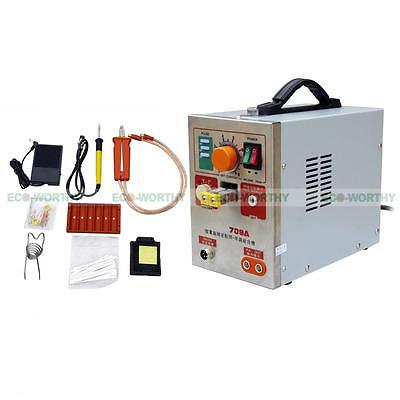 Spot Welder Soldering Iron Staion Battery Charger Tool 2 In 1 1.9kw 709a 60a