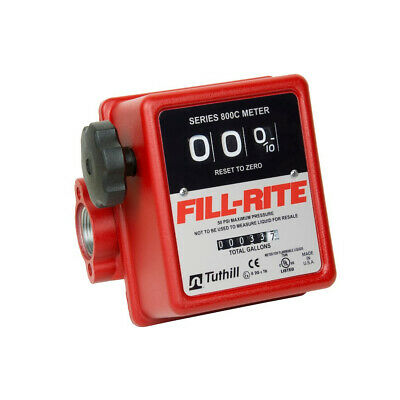 Fill-rite 807c1 3 Wheel Mechanical 1 Inch 50 Psi 5 To 20 Gpm Fuel Tank Meter