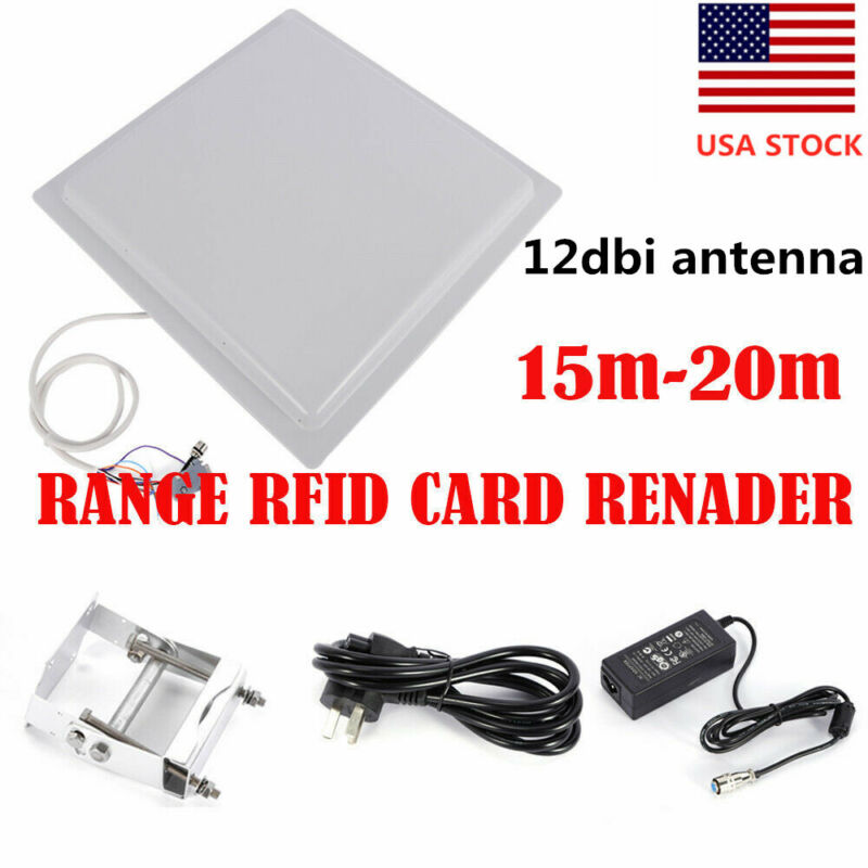 15M Long Range UHF RFID Card Reader RS232 RS485 Parking Access Control New