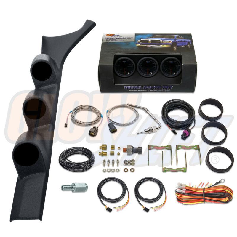 T7 Boost EGT Fuel PSI Gauges + Triple Pod for 86-93 Dodge Ram 1st Gen Cummins
