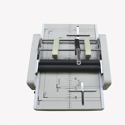 A3 Paper Booklet Binding And Folding Machine Manual Booklet Stapler 220v New Y