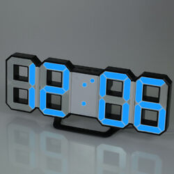 Multifunctional Large LED Digital Wall Clock 12H/24H Time Display With E2L8