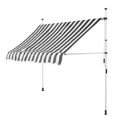 B-Ware Klemmmarkise Weiß/Grau 250cm