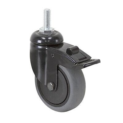 3 X 1 Tente Swivel Threaded Stem Caster Wtotal Brake Threadguards 1-5129