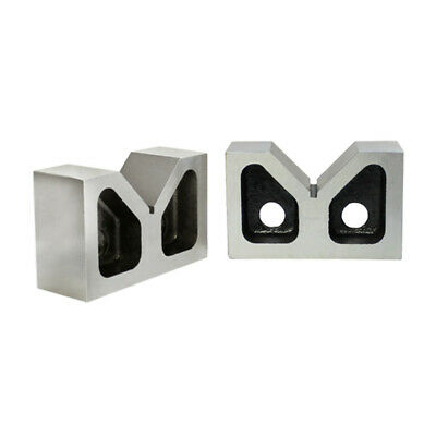 "Set of 2 Pcs Cast Iron V-Block 3"" Long Ground 90 Degree"
