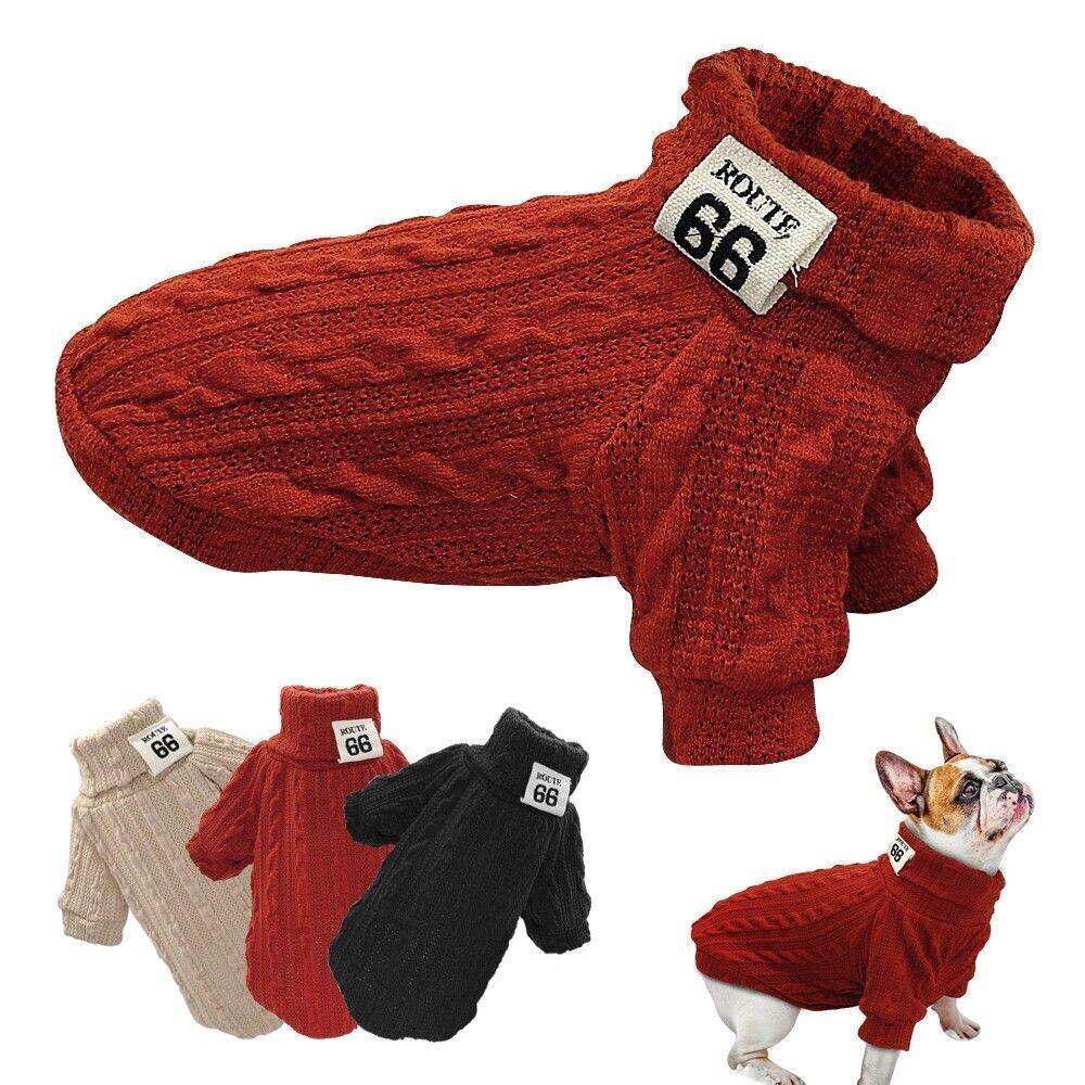 Haustier Hunde Welpe Kostüm Gestrickt Sweater Jumper Pullover Chihuahua Kleidung