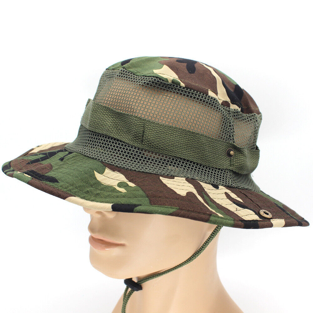 BOONIE HAT ~ Bucket ~ Cap Military Fishing Camping Outdoor Foldable Clothing, Shoes & Accessories
