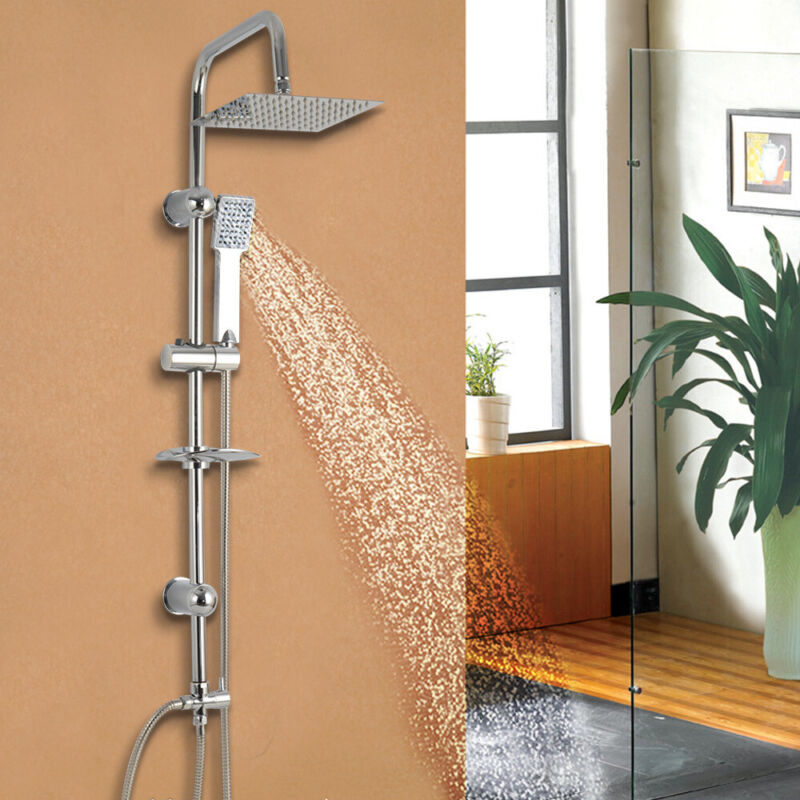 8/'/' Duschsystem mit Thermostat Regendusche Duschset Duschsäule Duscharmatur Neu