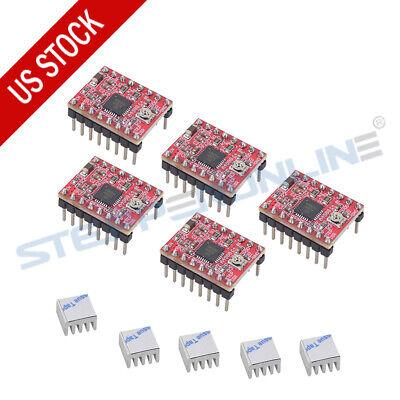 5pcs A4988 Driver Module Stepstick Stepper Motor For Cnc Reprap 3d Printer