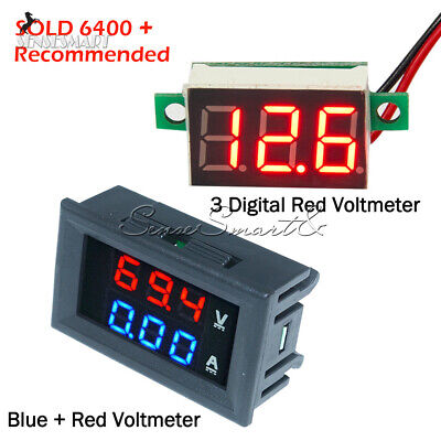 Digital Red Led Voltage Meter Dc100v 10a Voltmeter Ammeter Bluered Led Amp Dual