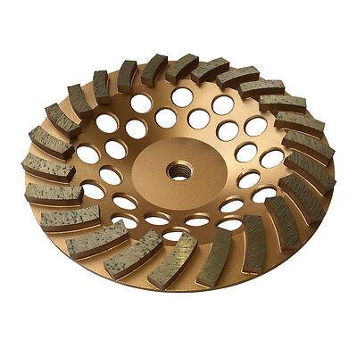 "7""x24 Seg Diamond Concrete Spiral Turbo Grinding Cup Wheels 5/8""-11 Arbor"