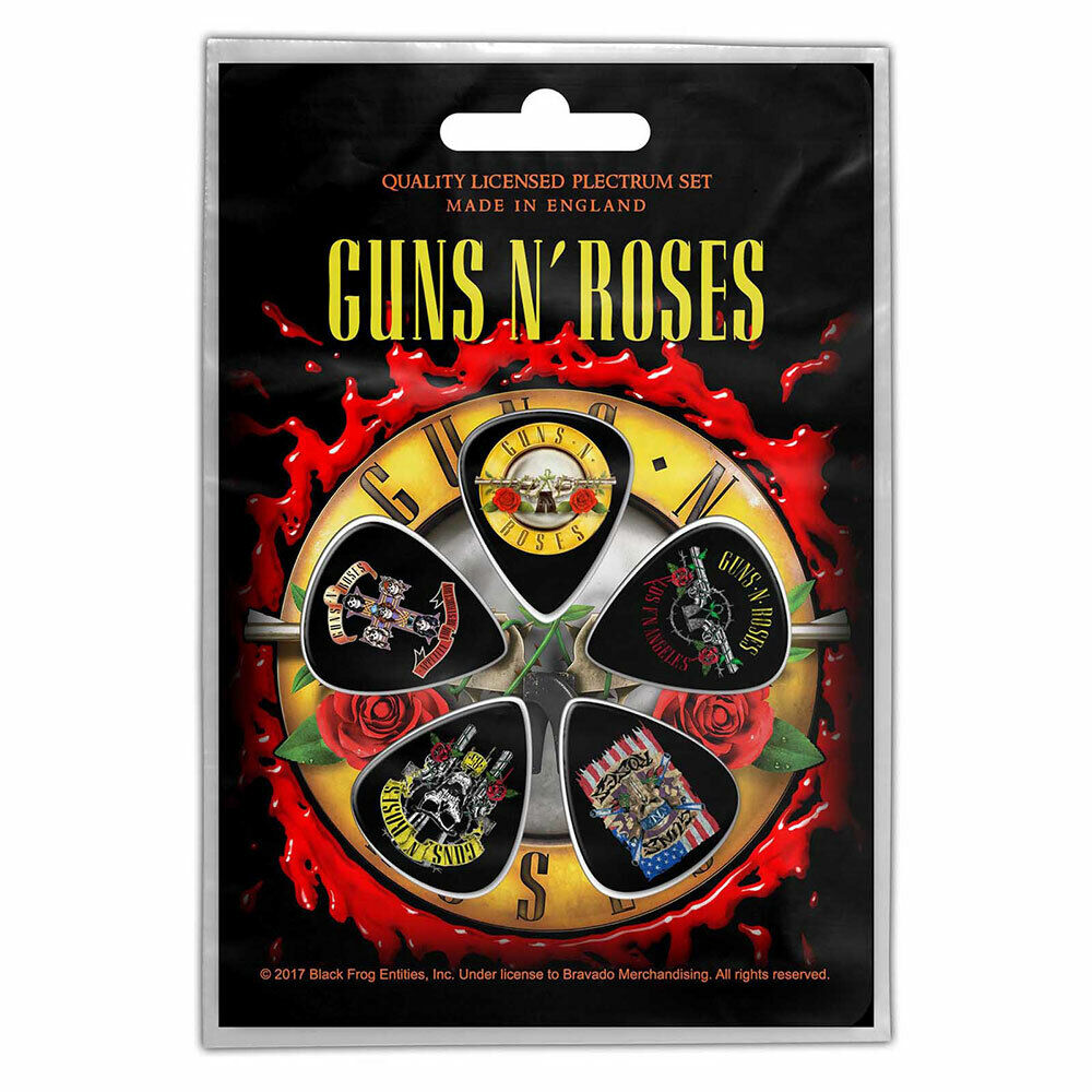 GUNS N/' ROSES Bullet Logo Guitar Picks Pack Plectrums Official Licensed Merch