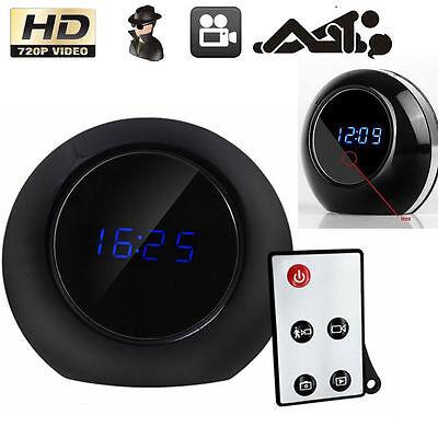 Remote Motion Hidden Alarm Clock Watch HD Camera Cam Spy Camcorder DVR 720P AGO