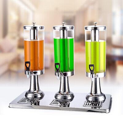 Commercial Cold Drink Dispenser 3 Tank Fruit Juice Coffee Beverage Maker Cooler