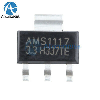 50pcs New Ams1117 Lm1117 5v 1a Sot-223 Voltage Regulator