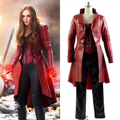 Captain America 3 Civil War Cosplay Scarlet Witch Costume Wanda Maximoff - Wanda Maximoff Costume