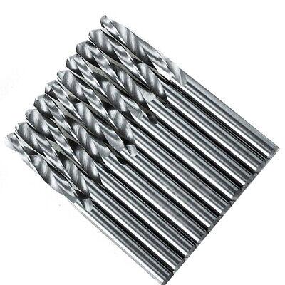 10 Pcs Solid Carbide Drill Bit Tool 3.175mm 18 2-flute Straight Shank 18