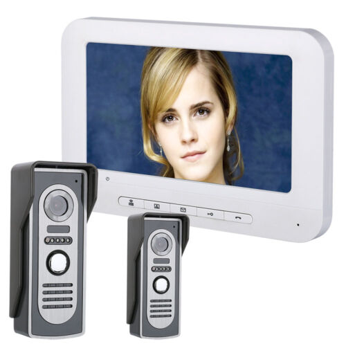 """7""""TFT Video Door Phone Doorbell Intercom Kit 2-Camera 1-Monitor HD 700TVL Camera"""