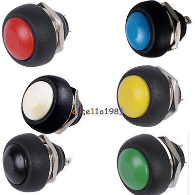 6pcs Mini 12mm Waterproof Momentary Onoff Push Button Round Switch