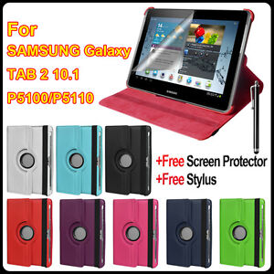 360° Rotating Leather Case Cover Stand for Samsung Galaxy Tab 2 10.1 P5100 P5110
