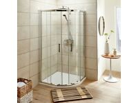 SHOWER ENCLOSURE & WHIT TRAY