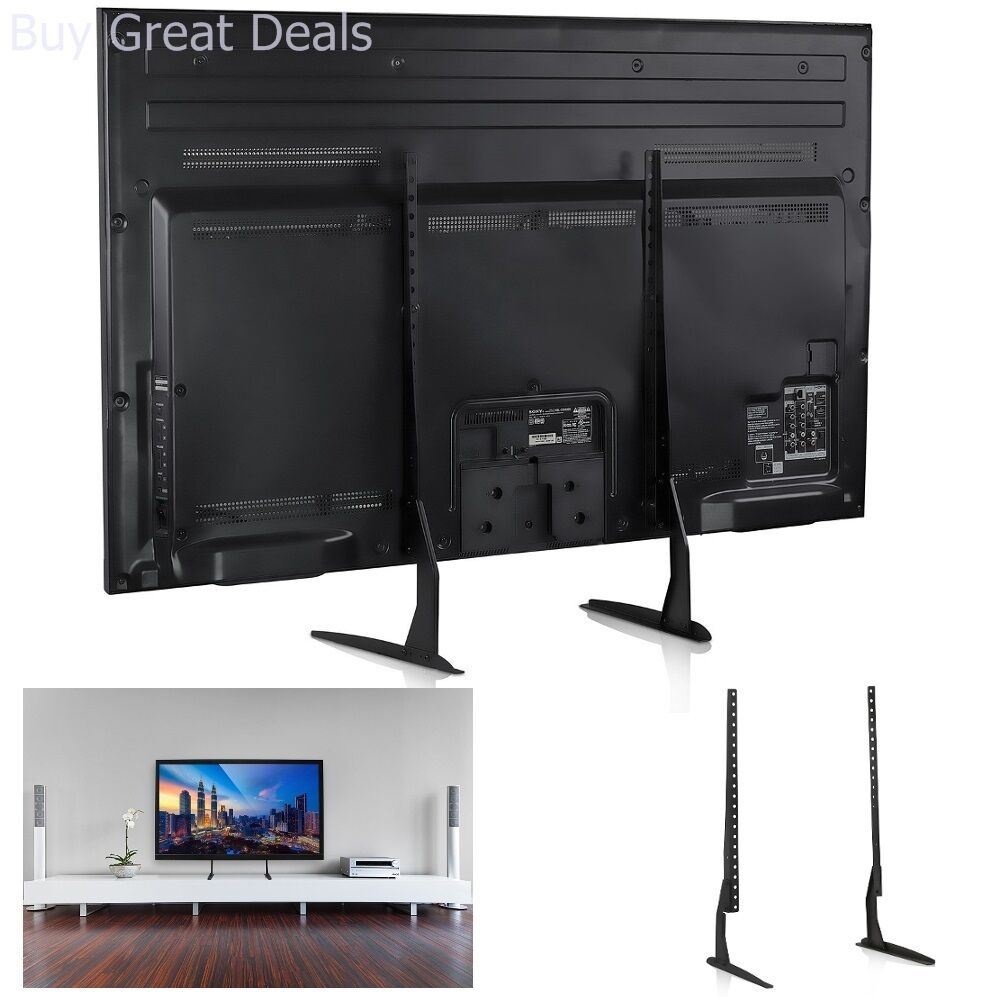 Universal Table Top TV Adjustable Stand Legs for Most LED LC