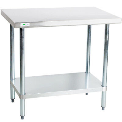 "24"" x 36"" Stainless Steel NSF Commercial Kitchen Work Prep Table with Undershelf"
