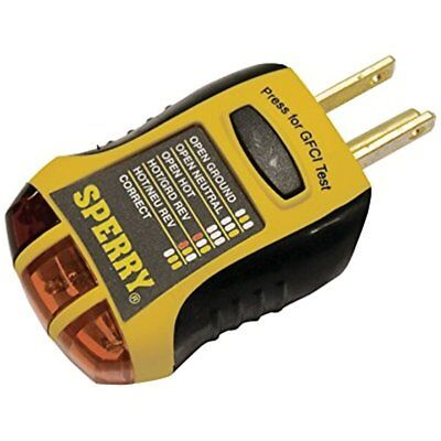 Gfci Outlet Receptacle Tester Sperry Instruments Standard 3 Wire120v Ac 7 60hz