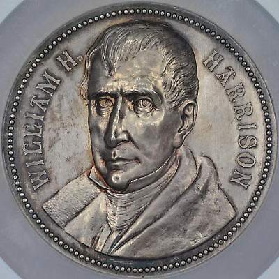 William Henry Harrison Presidential Inaugural Medal, Restrike, UNIQUE In Silver