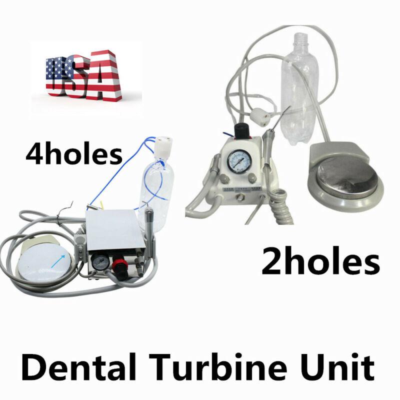 Portable Dental Turbine Unit Work for Compressor +3 Way Syringe 2 /4 holes