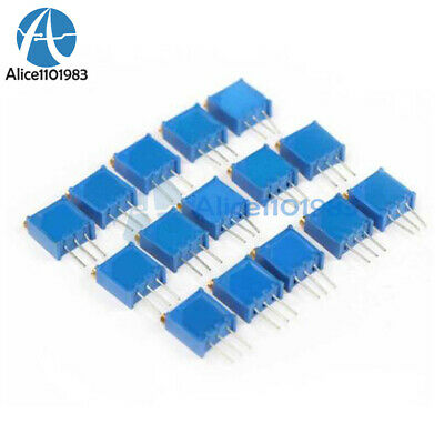 15 100-500k 15value 3296 Trimmer Potentiometer Assorted Variable Resistor Mo