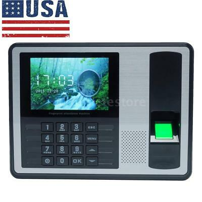 T9 Input Lcd Fingerprint Attendance Machine Time Clock Employee Checking-in S0s8