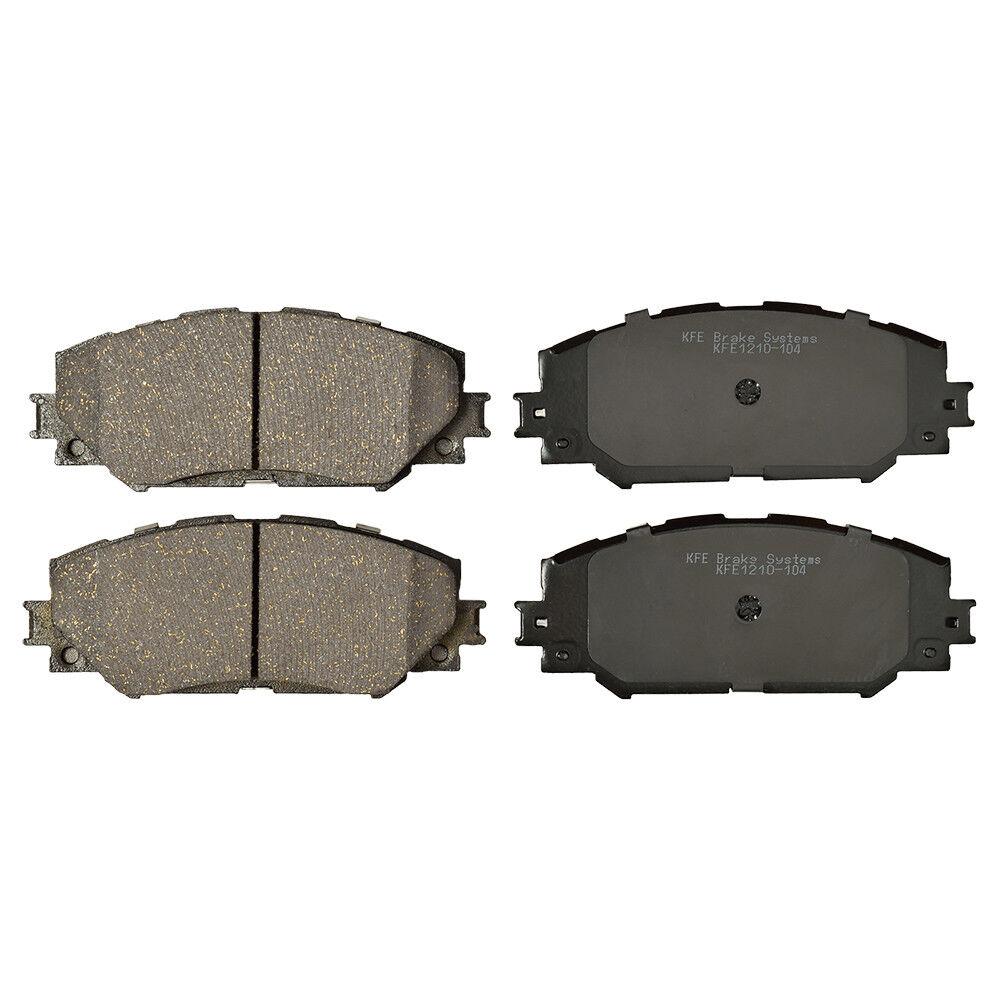 Shims Fits Toyota Venza KFE1401 Ceramic Disc Premium Brake Pad FRONT New Set