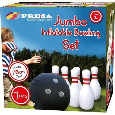 Giant Inflatable Bowling Game Set 70cm Jumbo Kids Fun Indoor Outdoor Waterproof for sale  Shipping to South Africa