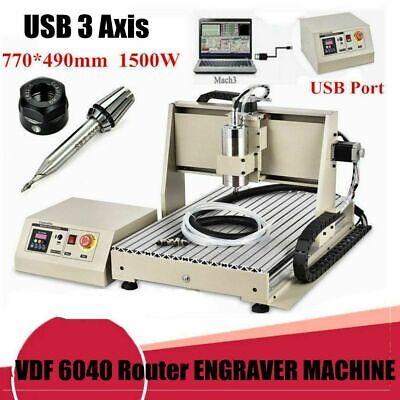 3 Axis 1.5kw Cnc 6040 Router Engraver 3d Drilling Woodworking Cutter Machine