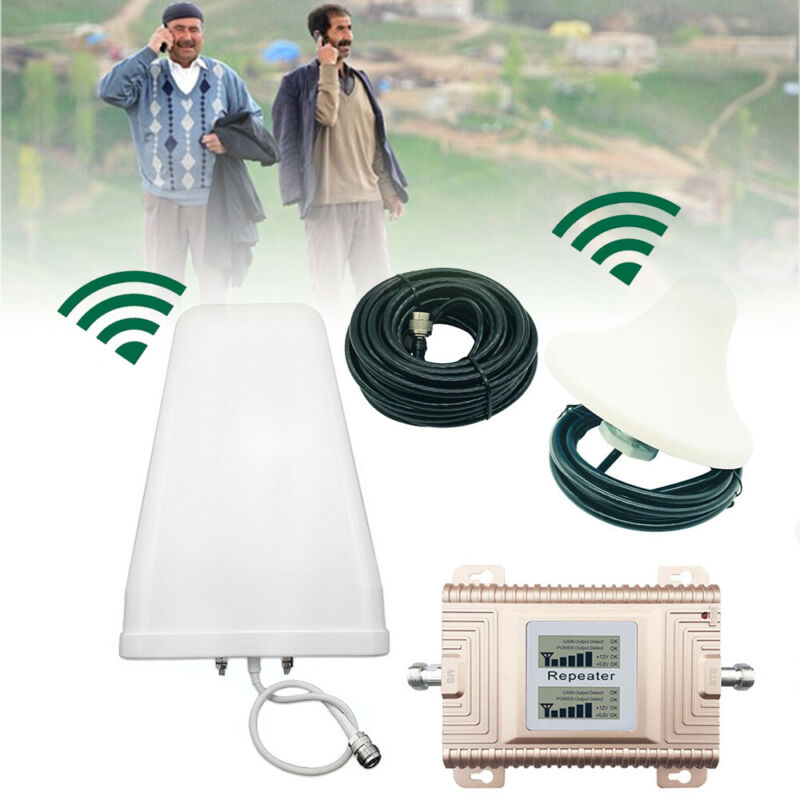 Cell Phone Signal Booster 850/1900MHz Home Dual Band Repeater/ Amplifier USA