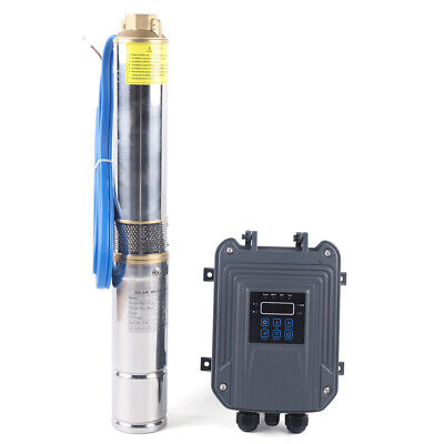 3 Dc Deep Bore Well Solar Water Pump Submersible Mppt Controller Kit 48v 400w