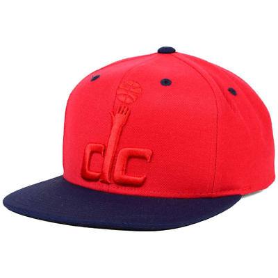 Washington Wizards Mitchell   Ness Nba Dc Tonal Snapback Cap Hat Flat Brim Mens