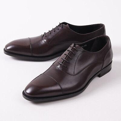 Nib  650 Canali 1934 Medium Brown Calf Leather Cap Toe Balmoral Us 8 D Shoes