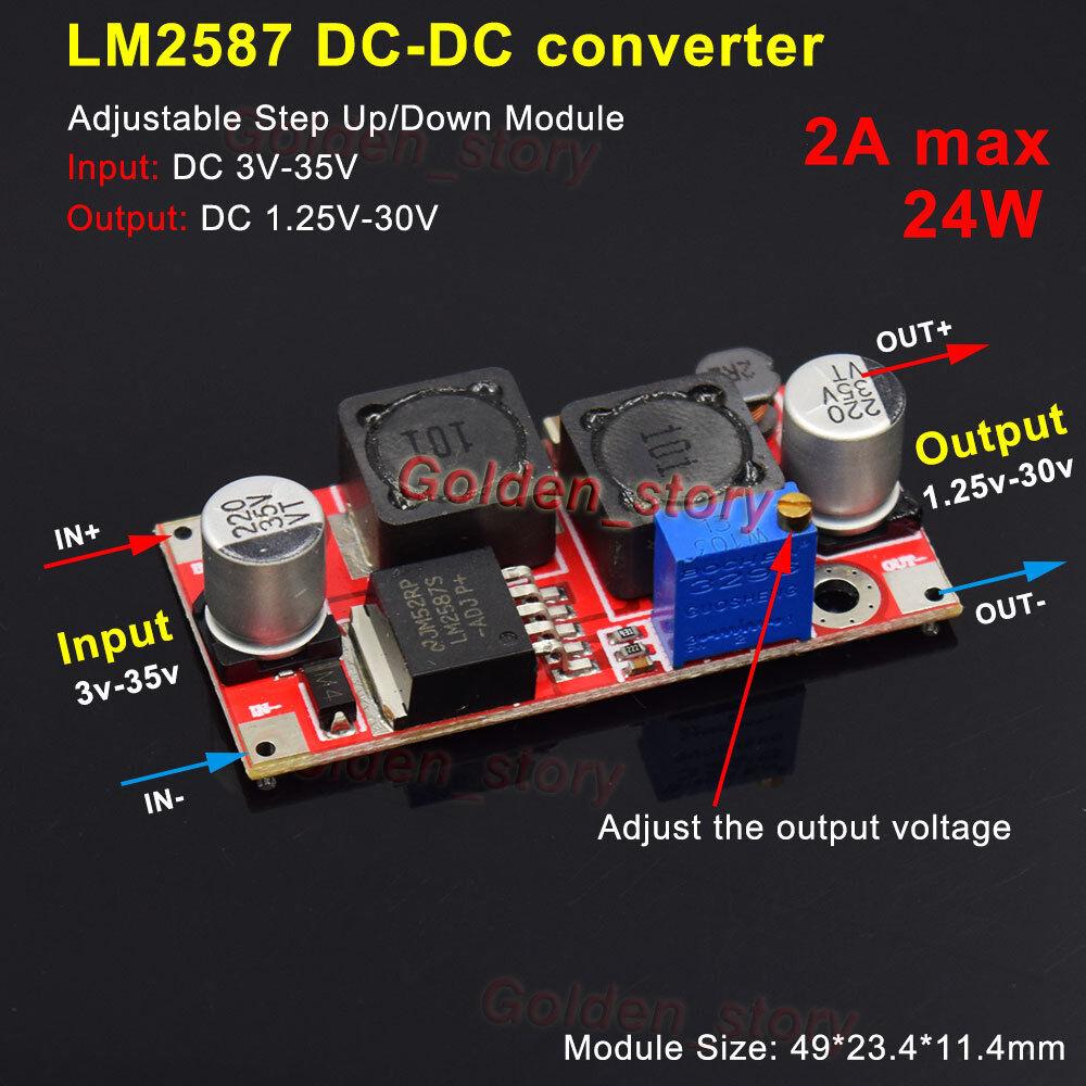 DC-DC 3.5-30V to 5V 9V 12V 24V 2.5A Boost Buck Step Up Down Adjustable Converter
