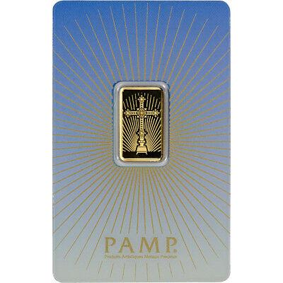 5 gram Gold Bar - PAMP Suisse - Roman Cross - 999.9 Fine in Assay