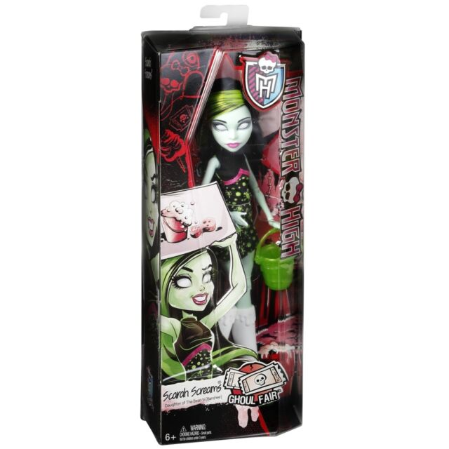 MONSTER HIGH GHOUL FAIR SCARAH SCREAMS DAUGHTER OF A BANSHE DOLL BRAND NEW CHW73