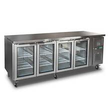 New Commercial 2.3m Counter Worktop Glass Doors Fridge Stainless Eagle Farm Brisbane North East Preview