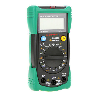 Mastech Ms8233b Palm Digital Multimeters Acdc Dc Current Resistance Tester