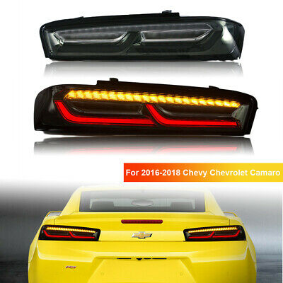 2x LED Tail Lights Rear Lamps For 2016-2018 Chevy Chevrolet Camaro
