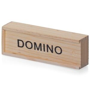 KIDS WOODEN BOX DOMINOES SET TOY TRADITIONAL CLASIC CHILDREN 28 DOMINO KIDS FUN